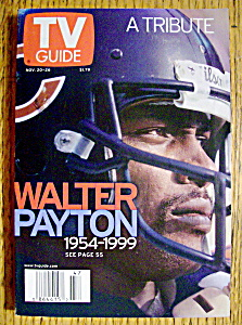 Tv Guide November 20-26, 1999 Walter Payton