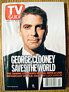 Tv Guide April 8-14, 2000 George Clooney