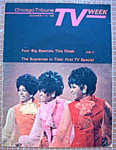 Tv Week December 7-13, 1968 The Supremes
