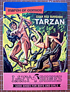 1969 Tarzan March Of Comics #332 Promo Lazy Bones Shoes