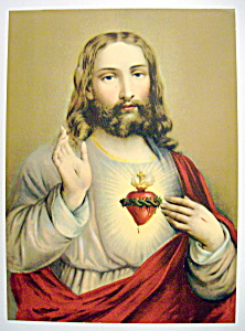 Lithograph Of Our Lord Jesus Christ 1920-30's (Image1)