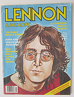Lennon A Memory Magazine 1980 Complete Photo Album