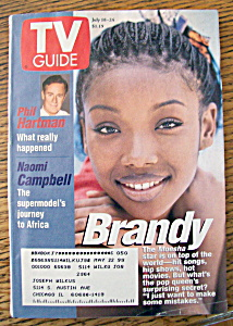 Tv Guide July 18-24, 1998 Brandy (Moesha)