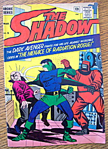 The Shadow Comics March 1965 Radiation Rogue
