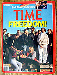 Time Magazine November 20, 1989 Freedom