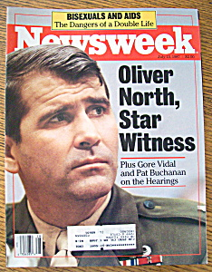 Newsweek Magazine July 13, 1987 Oliver North