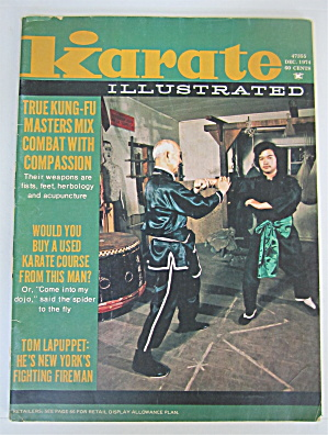 Karate Illustrated Magazine December 1974 Tom Lapuppet