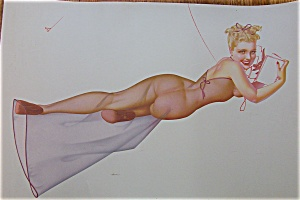 Lithograph Pin Up By Petty (Image1)