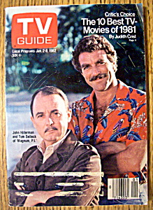 Tv Guide - January 2-8, 1982 Tom Selleck