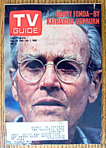 Tv Guide December 26, 1981-january 1, 1982 Henry Fonda