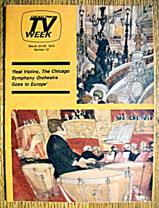Tv Week March 23-29, 1975 Chicago Symphony Orchestra