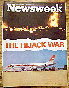 Newsweek Magazine September 21, 1970 Hijack War