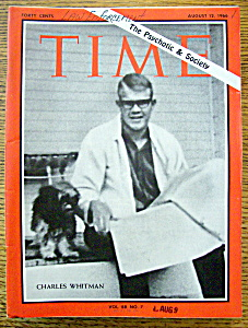Time Magazine - August 12, 1966 - Charles Whitman