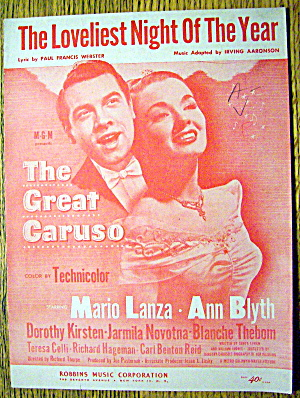 1951 The Loveliest Night Of The Year (Mario Lanza)
