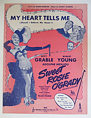 Sheet Music For 1943 My Heart Tells Me (Sweet Rosie) (Image1)