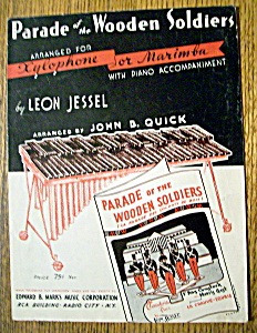 Sheet Music For 1937 Parade Of The Wooden Soldiers