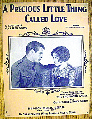 Sheet Music Of 1928 A Precious Little Thing Called Love (Image1)