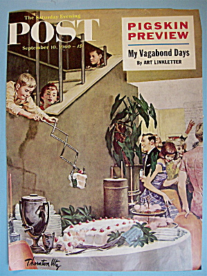 Saturday Evening Post Cover-t. Utz -september 10, 1960
