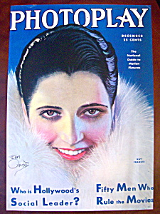 Photoplay Magazine Cover Dec 1930 Kay Francis