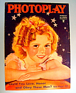 Photoplay Magazine Cover January 1935 Shirley Temple