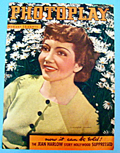 Photoplay Magazine Cover August 1937 Claudette Colbert (Image1)