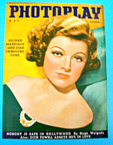 Photoplay Magazine Cover May 1936 Myrna Loy