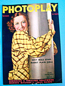 Photoplay Magazine Cover October 1935 Joan Crawford