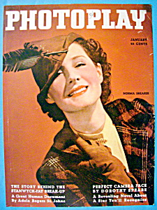Photoplay Magazine Cover January 1936 Norma Shearer