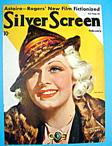Silver Screen Magazine Cover February 1936 Jean Harlow