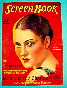 Screen Book Magazine Cover December 1929 Gloria Swanson (Image1)