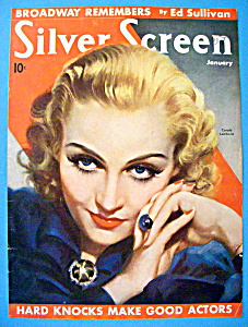 Silver Screen Magazine Cover Jan 1936 Carole Lombard (Image1)