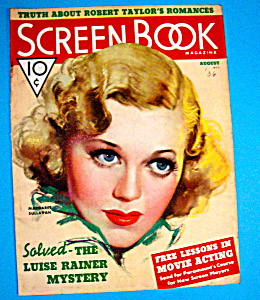 Screen Book Magazine Cover Aug 1936 Margaret Sullavan (Image1)