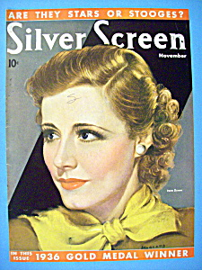 Silver Screen Magazine Cover November 1936 Irene Dunne