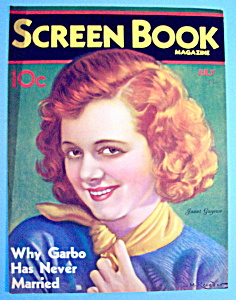 Screen Book Magazine Cover July 1932 Janet Gaynor