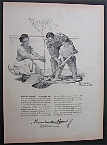 1958 Massachusetts Mutual Ins Done By Norman Rockwell