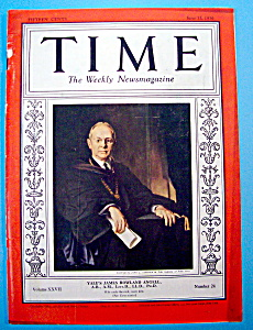Time Magazine June 15, 1936 Yale's James Rowland Angell