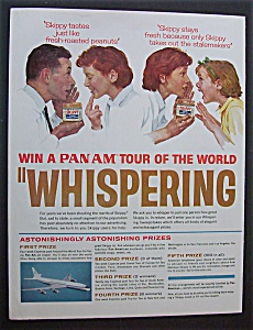 Norman Rockwell 1963 Pan Am Whispering Tours Ad