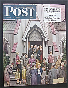 Saturday Evening Post Cover -dohanos- April 16, 1949