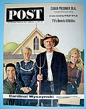 Saturday Evening Post Cover-february 2, 1963-uncle Jed