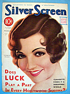 Silver Screen Magazine Cover Feb 1932 Claudette Colbert (Image1)
