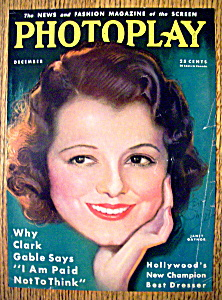 Photoplay Magazine Cover December 1932 Janet Gaynor (Image1)