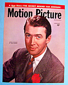 Motion Picture Magazine Cover Jan 1947 James Stewart