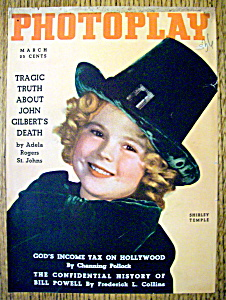 Photoplay Magazine Cover March 1936 Shirley Temple