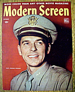 Modern Screen Magazine Cover October 1944 Ronald Reagan (Image1)