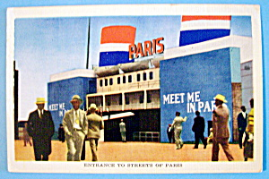 Entrance To Streets Of Paris Postcard-1933 Chicago Fair (Image1)