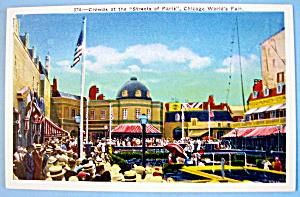 Crowds At Streets of Paris Postcard-Chicago World Fair (Image1)