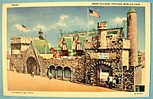 Postcard Of Irish Village (1933 Century Of Progress) (Image1)