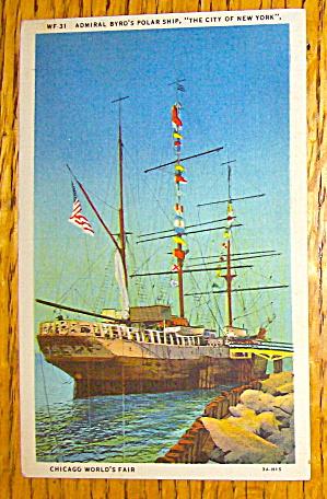 Admiral Byrd's Polar Ship Postcard (Chicago World Fair) (Image1)