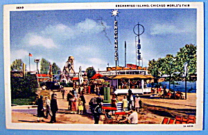 Enchanted Island Postcard (Chicago World's Fair) (Image1)