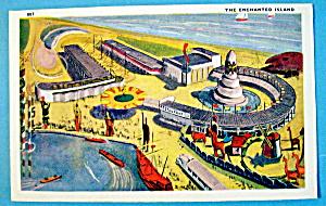 Enchanted Island Postcard (1933 Century Of Progress) (Image1)